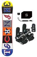 Technine  Young Gun All Star Snowboard+Bindings+Stomp+Leash+burton decal Package