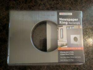 Brick Letterbox Newspaper Ring Sandleford 237 x 167 Stainless Steel Rectangle