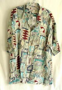 CAMPIA MODA Golf Sport Short Sleeve Rayon Shirt Mens Size Medium NEW NWT