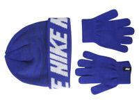 Nike Big Boy's 2-Piece Repeat Stripe Game Royal Hat & Gloves Set Sz: 8/20