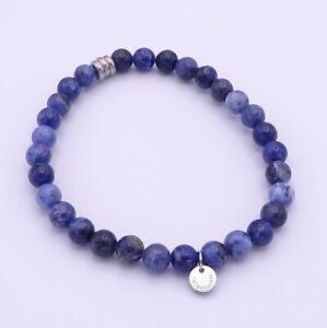Tateossian Men's Blue Sodalite Elasticated Bead Bracelet Length 18cm
