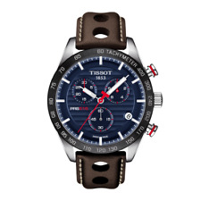 Tissot PRS516 T1004171604100 Brown Leather Chronograph Men's Watch