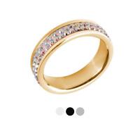 Tribal Spirit Steel Ring Swarovski Elements Edelstahl vergoldet schmuckrausch