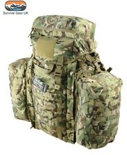 More details for btp tactical rucksack 90 litre assault bergen & side pouches british army