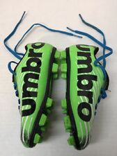 Umbro 9K Arturo 2.0 Boys size 9K Soccer Shoes with cleats Lime Green Black
