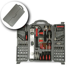 New 127 Essential Tool Kit Set Socket Screwdriver Pliers Drill Hex Bit With Box
