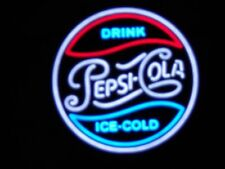 "Official Drink Pepsi Cola Led Neon Style Light Zeon Made Usa 19"" New in Box"