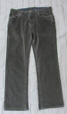 Mens Tommy Bahama Gray Corduroy Pants Standard Straight Leg Size 35x32