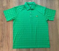 Masters Tech XL Men's Green Checks Augusta National Golf Shirt