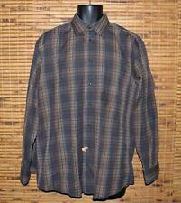 "Men's St Croix Dress Shirt L Front Made in Italy 50"" Chest Plaid Button"