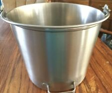 Vintage Stainless Steel Seamless With Handle On Bottom For Easy Pouring