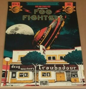 Foo Fighters Poster Save Our Stages Troubadour 2020 Signed/Number By Artist