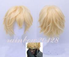 Blonde One Punch-Man Genos Anime Cosplay Peluca Corta