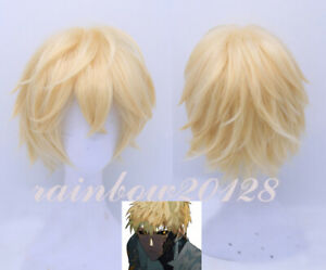 Blonde ONE PUNCH-MAN Genos Short Anime Cosplay Wig