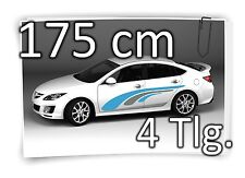 175cm pegatinas laterales Stripe carstyling TUNING Tatuaje de coche Kit