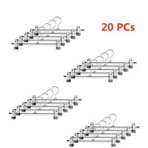 20/30X Non-slip Metal Rack Clip Coat Hangers Clothes Closet Pant Trousers Skirt