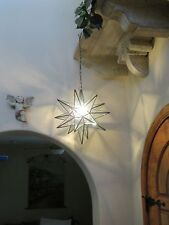 """Moravian Star -18"""" clear  glass  with BEVELS 18 point"""