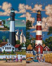 DOWDLE FOLK ART COLLECTORS JIGSAW PUZZLE LIGHTHOUSES SOUTH 500 PCS #00327