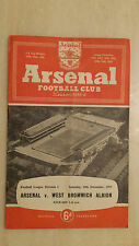 1955/56 League Division One: ARSENAL v WEST BROMWICH ALBION