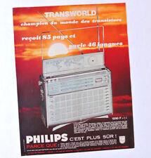 PHILIPS Transworld / Advert Publicite Reklame Anuncio Receiver Transistor Radio