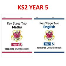 More details for ks2 year 5 maths & english targeted question books with answer ages 9-10 cgp