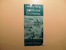 Where to Stay in Southern California 1965 vintage hotel motel resort directory
