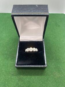 Diamond 5 Stone Rub Over Ring