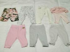 Lot Of 7 3 Month 3M Baby Girl Variety Pants Shorts Carter's Cabela's Paul Frank