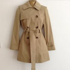 Asos Classic Petite Trench Coat Jacket Mac Stone Beige Uk Size 8 Bnwot