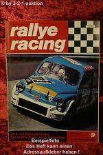 Rallye Racing 9/70 R12 Gordini Fiat Coupe NSU 1150 + Poster