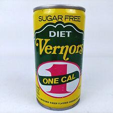 Vtg Diet Vernors One Calorie 1 Cal Sugar Free 12 Oz Michigan Soda Can Beaver Top