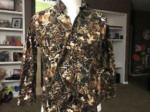 RedHead Deer Shirt Long Sleeve Cotton Hunting Youth Size Medium Buck Fever