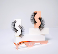 2 Pairs Eye Lashes Soft Faux Mink Long Mixed Fake False Eyelashes Set Natural