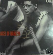 """U2 Angel of Harlem autographed  record cover signed by Adam 7"""" record included"""