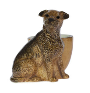 Quail Ceramics    Egg Cup With Border Terrier