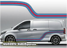 Mercedes Vito Martini 006 side racing stripes vinyl graphics stickers decals