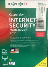 New Kaspersky Lab Internet Security 2015, 3 Device Retail Version - 2YR Total !