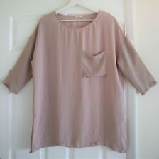American Vintage Beige 3/4 Sleeve Top with Pocket Size S