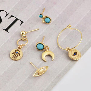 Bundle Set of 5 Womens Earrings Jewellery Girls Ear Piercing Ladies Accessories