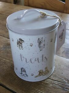 NEW Wrendale Designs Metal Dog Treat Tin - Fathers Day - Great Gift Hannah Dale
