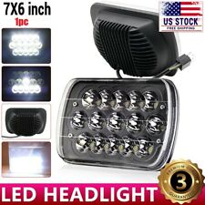 5X7 7x6 Black LED Headlight For 1986-1995 Jeep Wrangler YJ 1984-2001 Cherokee XJ