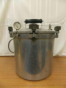 Vintage All American Cast Aluminum Steam Pressure Cooker 18 qt