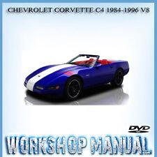 CHEVROLET CORVETTE C4 1984-1996 V8 WORKSHOP SERVICE REPAIR MANUAL IN DISC