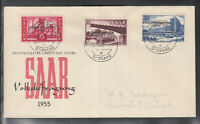 SAAR THE SAARLAND beautiful FDC 1955 popular consultation / Volksbefragung  (1)