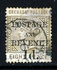 GRENADA QV 1891 Surcharged 1d. POSTAGE AND REVENUE on 8d, SG 46 VFU