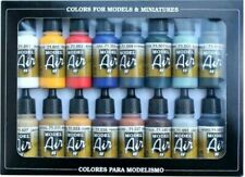 Vallejo 71178 Model Air - 16 Basic Colours Acrilic Paint Set