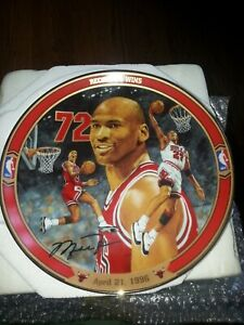 "Michael Jordan ""Record 72 Wins"" Bradford Exchange/Upper Deck Collectible Plate"
