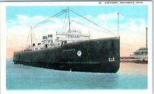 ASTABULA, Ohio  OH    CAR FERRY  ca 1920s-30s  Postcard