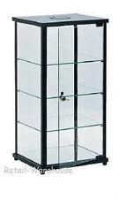 "Display Case Countertop Black Glass Retail Merchandise Jewelry 27"" x 12"" x 14"""