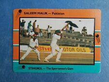 SCANLENS STIMOROL 1988/89 CRICKET CARD - Saleem Malik # 125 (Pak)